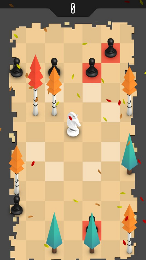 Survival chess with fall themed board