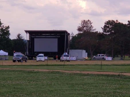 Picture of our Screen and Stage (there's no bad seat!)
