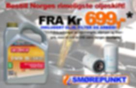 Oljeskift for 699