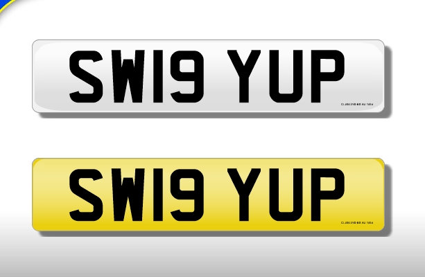 SW19 YUP - Cherished Number