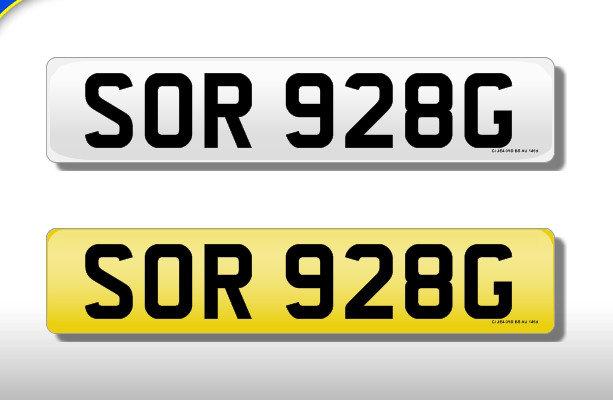 SOR 928G - Cherished Number
