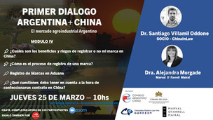 Módulo 4 - PRIMER DIÁLOGO ARGENTINO + CHINA - Registro de Marcas y Contratos en China