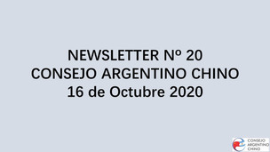 Newsletter Nº 20 - Consejo Argentino Chino