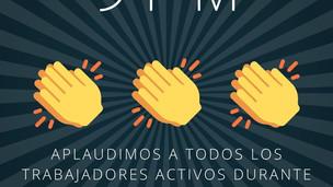 En en Consejo Argentino Chino nos sumamos también de forma virtual al aplauso a los trabajadores