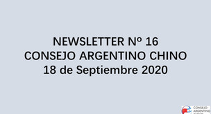 NEWSLETTER Nº 16 - Consejo Argentino Chino