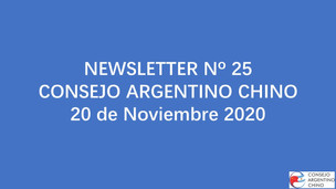 NEWSLETTER Nº 25 - Consejo Argentino Chino