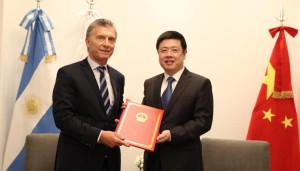 El Embajador Zou Xiaoli presentó las Cartas Credenciales ante el Presidente Mauricio Macri