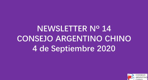 NEWSLETTER Nº 14 - Consejo Argentino Chino