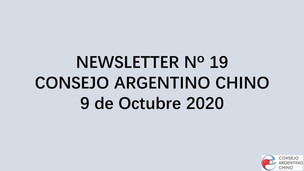 NEWSLETTER Nº 19 - Consejo Argentino Chino