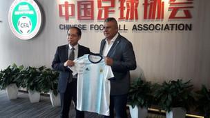 La AFA avanza a paso firme en su alianza con China
