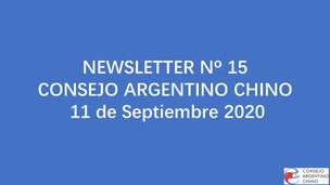 NEWSLETTER Nº 15 - Consejo Argentino Chino