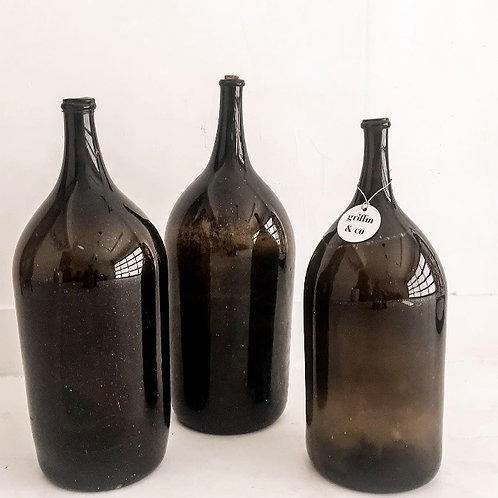 Olive glass bottle( one)