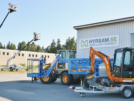 Acompanhamento de melhor visibilidade e eficiência de negócios para locadora sueca