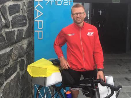 Christian andou de bicicleta do Cabo Norte até a Dinamarca com um rastreador confiável