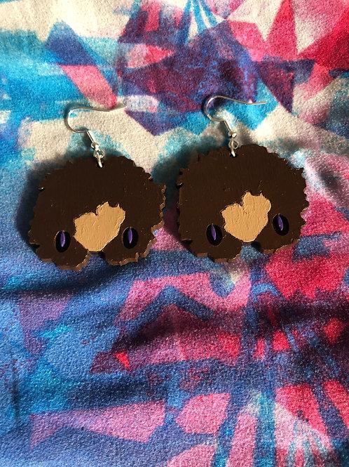 Levia~ Plum earrings (honey)