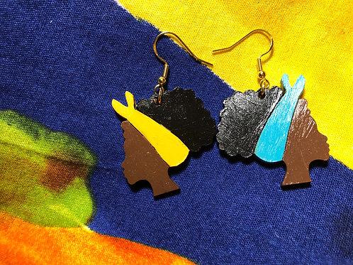 Yin Yang JaVaughna (light blue/ yellow wrap)cocoa
