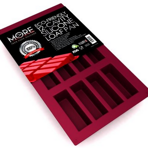 More Cuisine Essentials 12 Cavity Silicone Pan