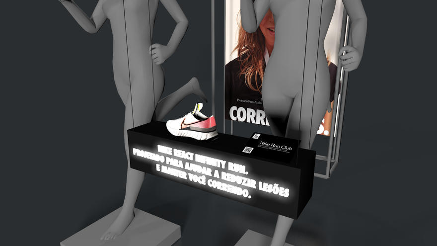 Nike Infinity React - Ambientação lojas próprias