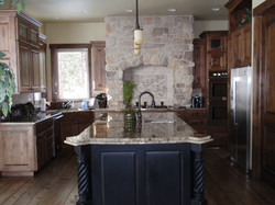 Full kitchen with custom island