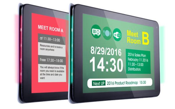 Digitale Türschilder mit Buchung über Exchange, Office 365 & Google