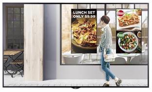 Semi-Outdoor Werbemonitor für Schaufenster