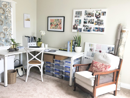 Create a productive work space at home