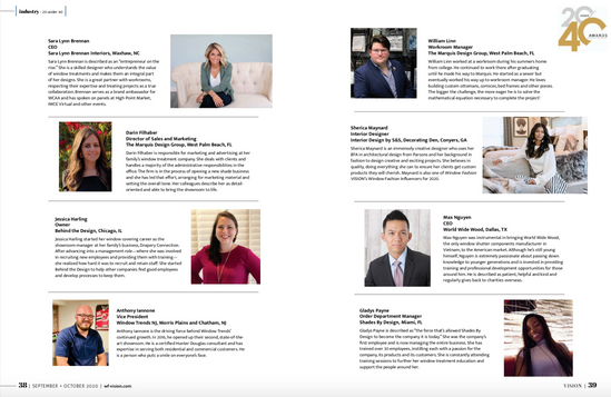 20 Under 40 Article Vision Magazine