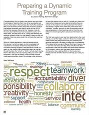 Preparing a Dynamic Training Program