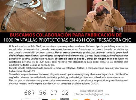 PANTALLA PROTECTORA CON FRESADORA CNC