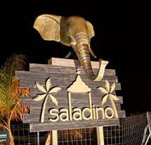 realizacion de soporte y cabeza elefante en poliester con letras corporeas..jpg