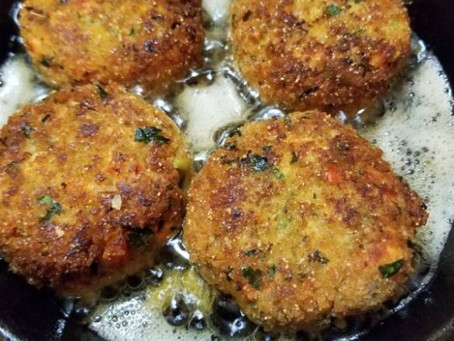 Tasty Delite Cornmeal Flaky Delicious Salmon Croquettes