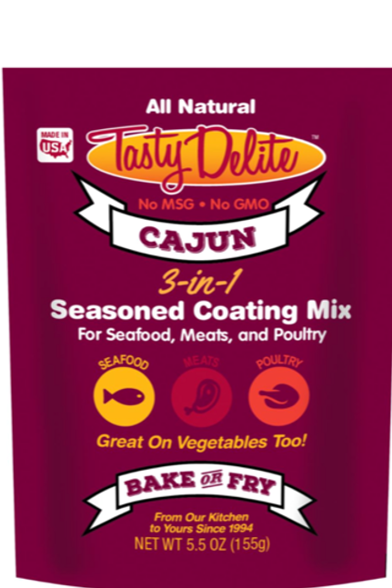 Tasty Delite Cajun 3 -in- 1 Seasoned Coating Mix/Breader