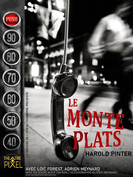 LE MONTE-PLATS Affiche PIXEL + LOGO PIXE