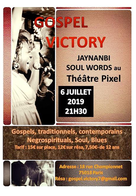 Flyer Gospel victory jaynanbi soul Words