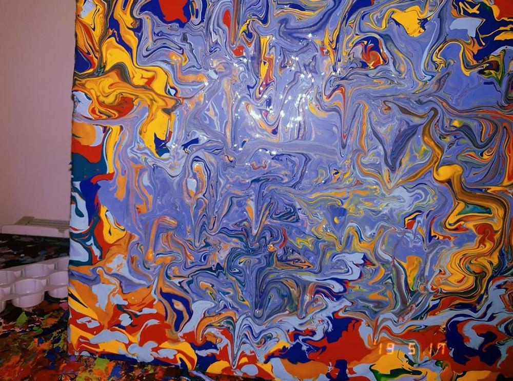 arte astratta, arte fluida di Alessia Camoirano Bruges