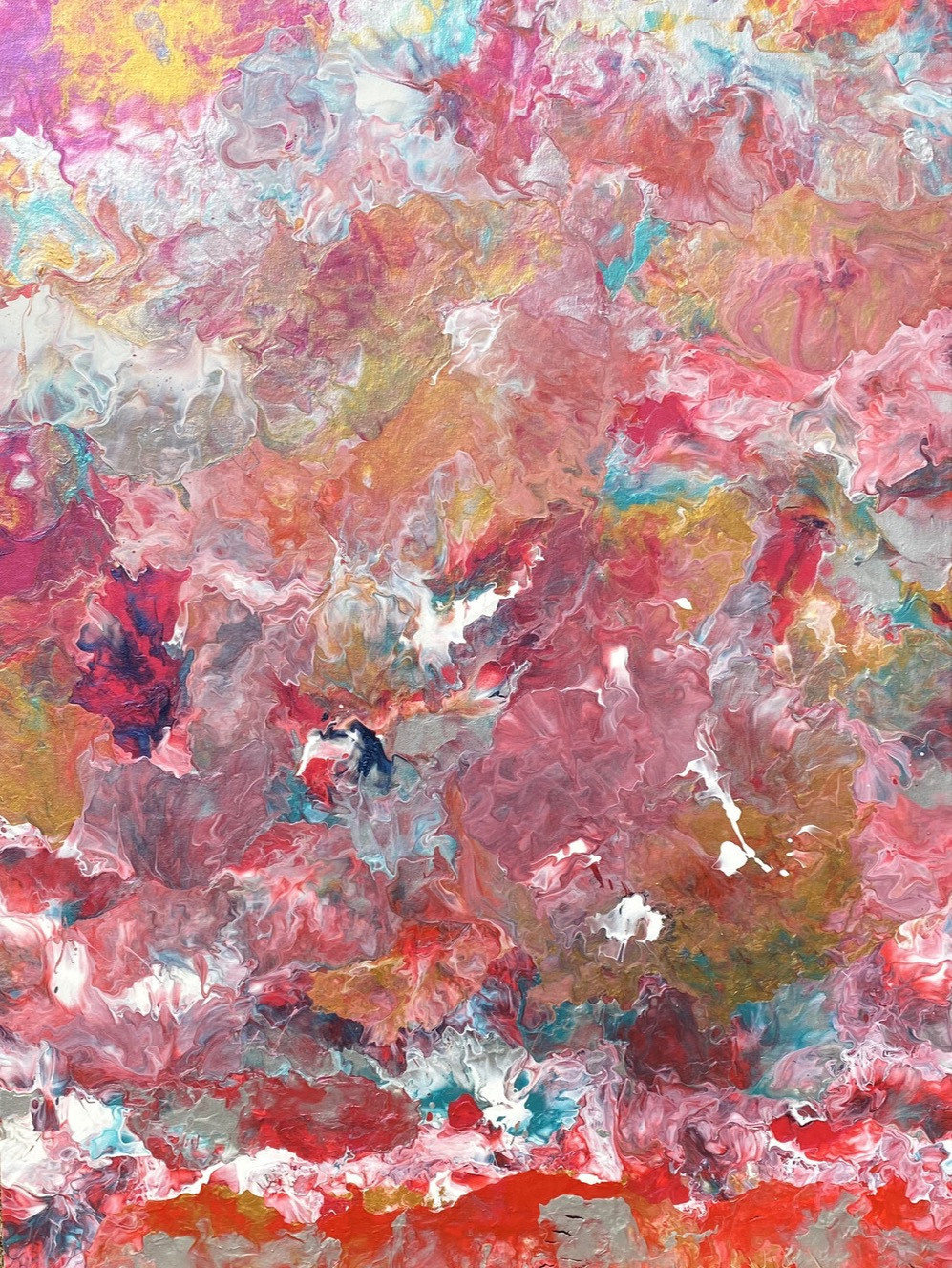 Fluid painting and art by Alessia Camoirano Bruges. Dipinto fluido