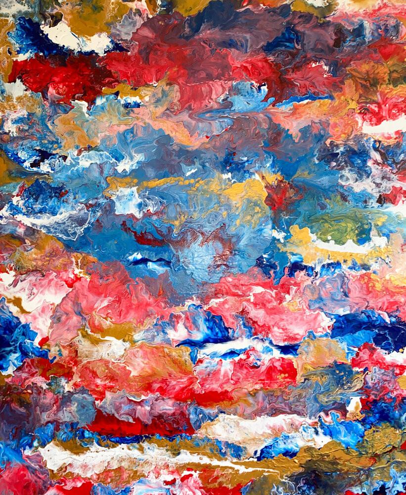 Dipinto astratto di Alessia Camoirano Bruges