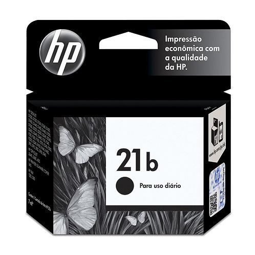 Cartucho HP 21b Preto Original