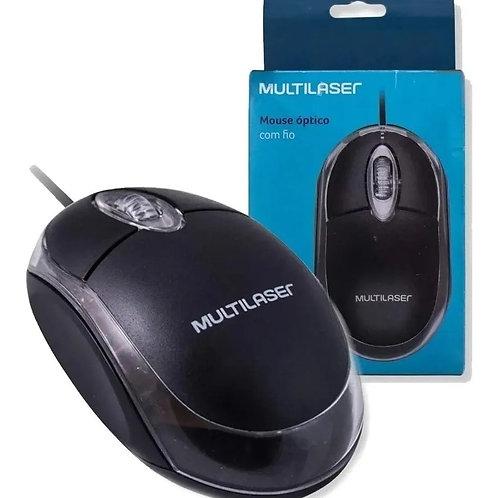 Mouse com fio Multilaser