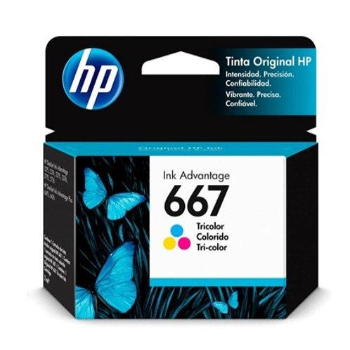 Cartucho HP 667 Colorido - Original