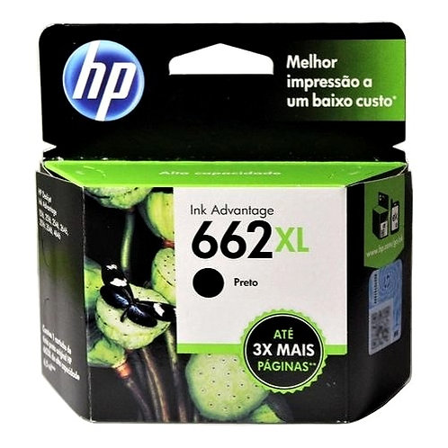 Cartucho Hp 662 XL Preto Original