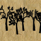 Jtree forest on handmade paper