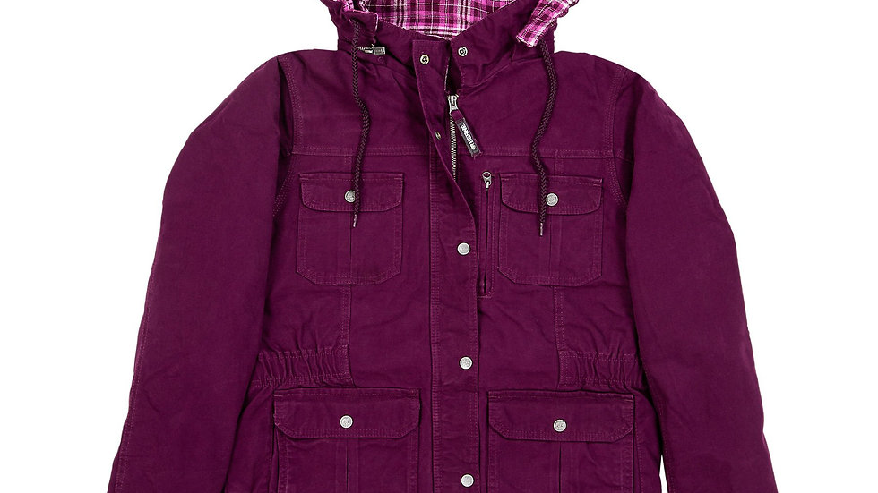 Ladies Washed Barn Coat Quilted Flannel Lined