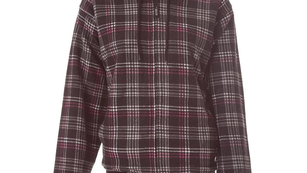 Ladies Plaid Hooded Sweatshirt