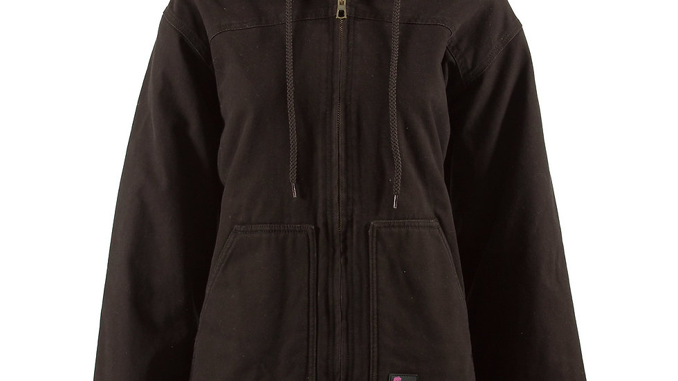 Women's Sherpa Lined Hooded Washed Coat