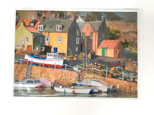 Crail Harbour, East Neuk of Fife, Scotland // Greeting Card