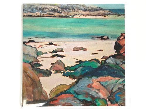 Coloured Rocks of Chalbha Bay, Isle of Iona, Scotland // Gift Card