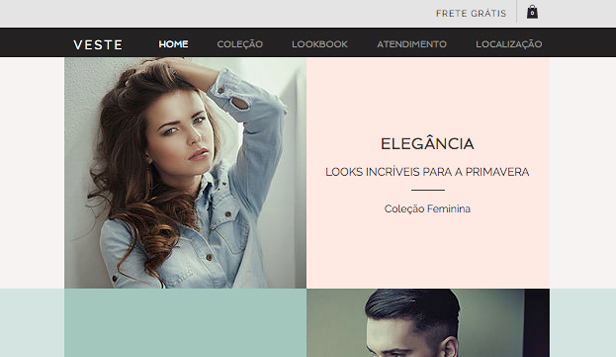 Loja Virtual website templates –  Boutique da Moda