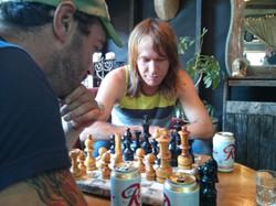 Annual B&B serious chess match