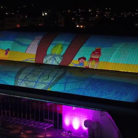 Dachkuppe Maritime Museum Vivid 2017
